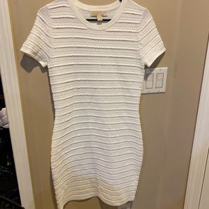 White Michael kors t-shirt style fitted dress